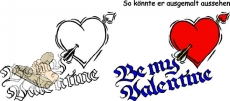 Motivstempel Be my Valentine Pfeilherz