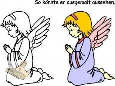 Motivstempel Betender Engel