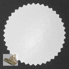 Siegelmarken / Haftetiketten (Ø 56 mm) silber-glänzend