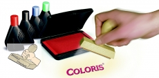 Coloris Stempelfarbe 4010, 28 ml - Schwarz