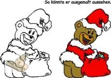 Motivstempel Weihnachtsteddy