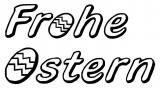 Motivstempel Frohe Ostern