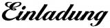 Motivstempel Einladung (Ballantines)
