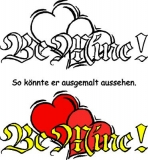 Motivstempel Be mine Herzen