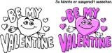 Motivstempel Be my Valentine Herz