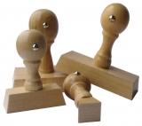Holzstempel - 80 x 80 mm