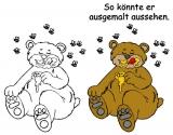 Motivstempel Bär nascht Honig