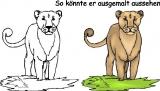 Motivstempel Löwin