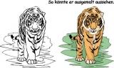 Motivstempel Tiger