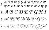 Monogramm und Name JustRite JPDx (Blattstärke bis 80 g/m²)