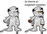 Motivstempel Mumie