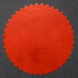 Siegelmarken / Haftetiketten (Ø 56 mm) Terrakotta / Rot