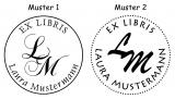 Ex Libris Initialen Colop Prägezange (Blattstärke bis 100 g/m²)