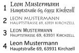 Monogramm und Name Colop Prägezange (Blattstärke bis 100 g/m²)