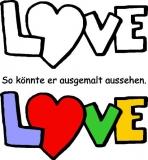 Motivstempel Love Herzschrift 2