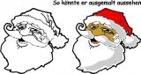 Motivstempel Weihnachtsmann-Kopf